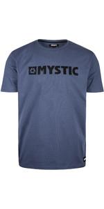 2020 Mystic Mens Brand T-Shirt 190015 - Denim Blue