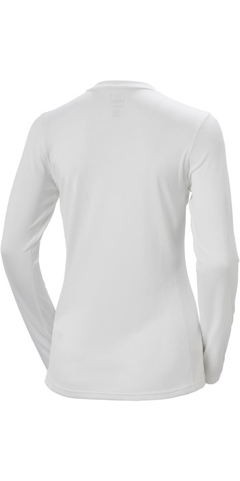 2021 Helly Hansen Womens Lifa Active Solen Long Sleeve Top 49352 - White