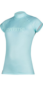 2020 Mystic Womens Star Quickdry Cropped Sleeve Rash Vest 200155 - Mist Mint
