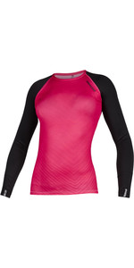 2020 Mystic Womens Diva Long Sleeve Rash Vest 200153 - Azalea