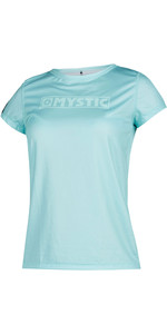 2020 Mystic Womens Star Short Sleeve Rash Vest 200151 - Mist Mint