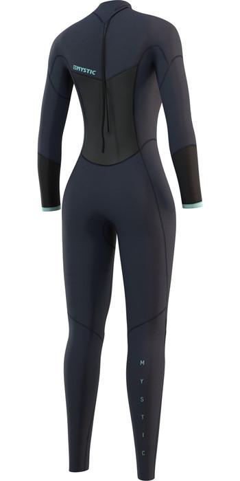2021 Mystic Womens Brand 3/2mm Back Zip Wetsuit 210319 - Night Blue