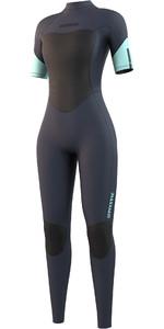 2021 Mystic Womens Brand 3/2mm Short Sleeve Wetsuit 210321 - Night Blue