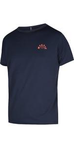 2021 Mystic Mens Voltage Short Sleeve Quick Dry Rash Vest 210141 - Night Blue