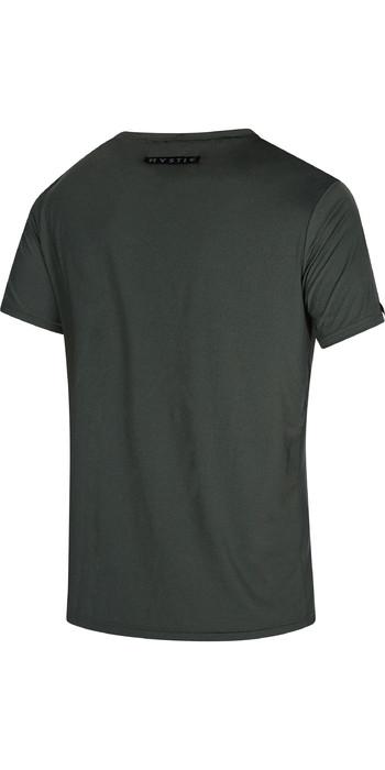 2021 Mystic Mens Majestic Short Sleeve Rash Vest 210146 - Dark Leaf