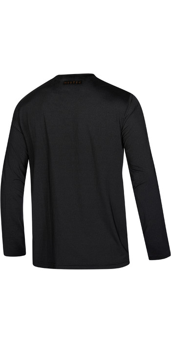 2021 Mystic Mens Majestic Long Sleeve Rash Vest 210147 - Black