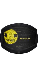 2021 Mystic Majestic 'Dirty Habits' Kite Waist Harness No Bar 210118- Black / Yellow