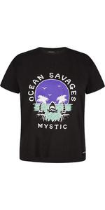 2021 Mystic Womens Sundowner T-Shirt 210288 - Black