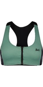2021 Mystic Womens Zipped Bikini Top 210263 - Seasalt Green