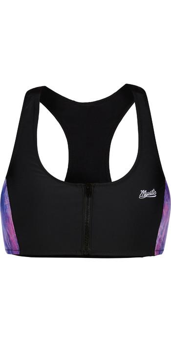 2021 Mystic Womens Zipped Bikini Top 210263 - Black