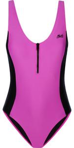 2021 Mystic Womens The Wild Zipped Swimsuit 210281 - Black / Pink
