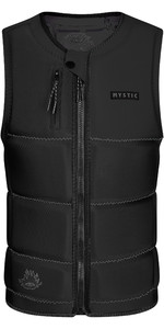 2021 Mystic The Dom Impact Vest Wake Front Zip 200180- Black