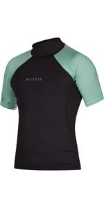 2021 Mystic Mens Crossfire Short Sleeve Rash Vest 200148 - Sea Salt Green