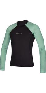 2021 Mystic Mens Crossfire Long Sleeve Rash Vest 200149 - Sea Salt Green
