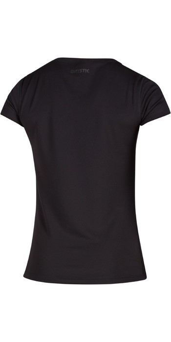 2021 Mystic Womens Star Short Sleeve Quickdry Rash Vest 200151 - Black