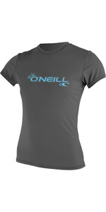 2019 O'Neill Womens Basic Skins Short Sleeve Rash Tee Graphite 3547