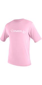 2019 O'Neill ToddlerBasic Skins Short Sleeve Sun Shirt Pink 3550