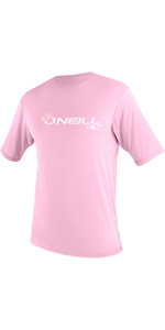 2019 O'Neill Toddler Basic Skins Short Sleeve Sun Shirt Pink 3550