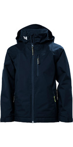 2019 Helly Hansen Junior Crew Midlayer Jacket Navy 41637