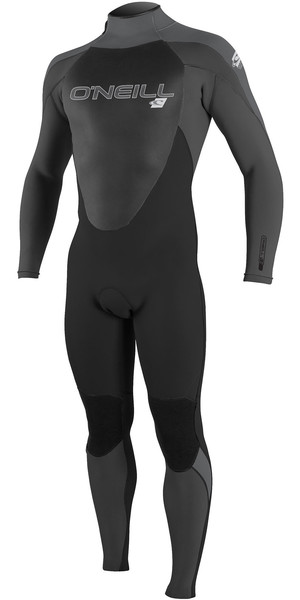 2019 O'Neill Mens Epic 5/4mm Back Zip Wetsuit Abyss / Cool Grey / Graphite 4217