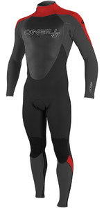2018 O'Neill Epic 5/4mm Back Zip GBS Wetsuit BLACK / Red 4217