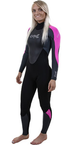 2019 O'Neill Womens Epic 4/3mm Back Zip GBS Wetsuit BLACK / Berry 4214