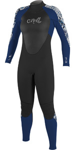 O'Neill Womens Epic 4/3mm Back Zip GBS Wetsuit Black / Navy 4214
