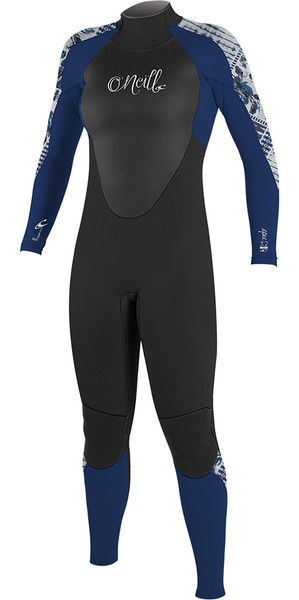 2018 O'Neill Womens Epic 5/4mm Back Zip GBS Wetsuit BLACK / Navy 4218