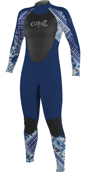 2018 O'Neill Youth Girls Epic 5/4mm Back Zip GBS Wetsuit Navy / Indigo Patch 4219G