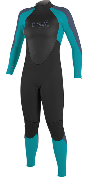 2018 O'Neill Youth Girls Epic 5/4mm Back Zip GBS Wetsuit Black / Mist 4219G