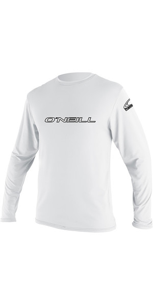2019 O'Neill Youth Basic Skins Long Sleeve Rash Tee White 4341