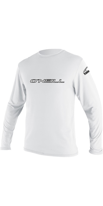 2020 O'Neill Youth Basic Skins Long Sleeve Rash Tee White 4341