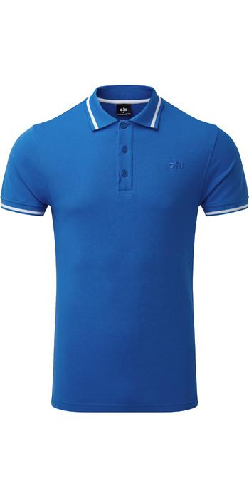 2021 Gill Mens Helford Polo Blue 4453