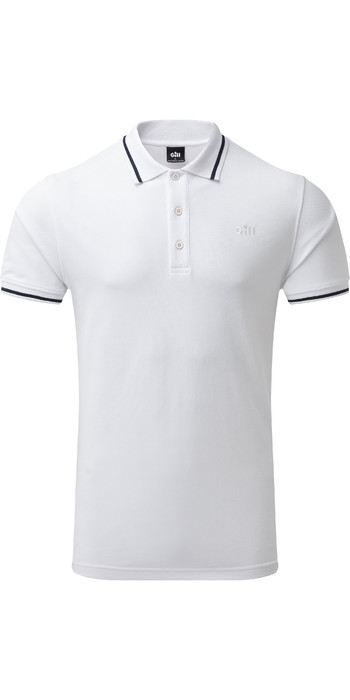 2021 Gill Mens Helford Polo White 4453
