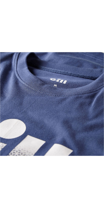 2021 Gill Mens Saltash Fade Print T-Shirt Ocean 4454