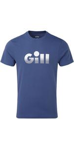 2019 Gill Mens Saltash Fade Print T-Shirt Ocean 4454