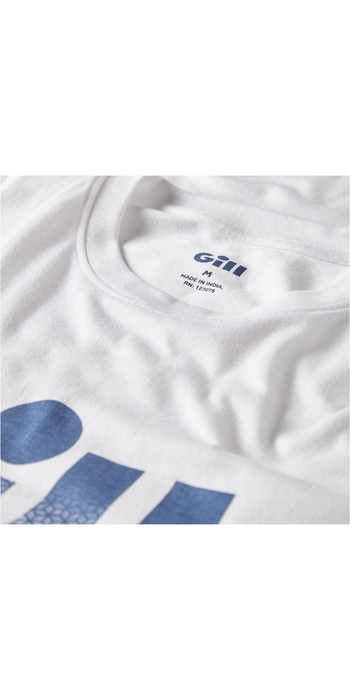 2021 Gill Mens Saltash Fade Print T-Shirt White 4454