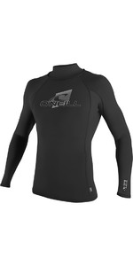 2018 O'Neill Premium Skins Long Sleeve Turtleneck Rash Vest Black 4518