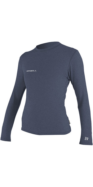 2018 O'Neill Womens Hybrid Long Sleeve Surf Tee Mist 4676