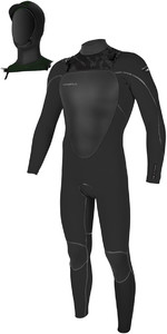 2019 O'Neill Mutant 5/4mm Hooded Chest Zip Wetsuit Jet Camo 4762