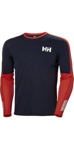 2019 Helly Hansen Mens Lifa Active Crew Long Sleeve Base Layer Navy 48308