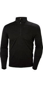 2019 Helly Hansen Lifa Active 1/2 Zip Light Long Sleeve Base Layer Black 48309