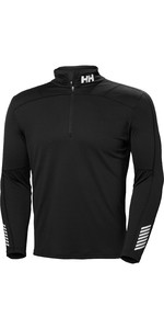 2019 Helly Hansen Mens Lifa Active 1/2 Zip Long Sleeve Base Layer Black 48309