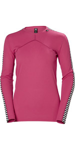 2019 Helly Hansen Womens HH Lifa L / S Crew Base Layer Dragon Fruit 48326