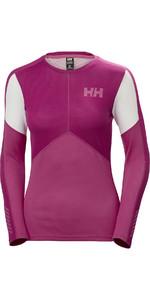 2019 Helly Hansen Womens Lifa Active Crew Light Long Sleeve T Shirt Dragon Fruit 48334
