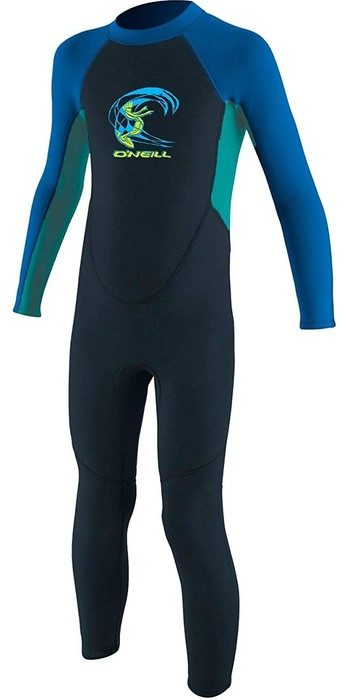 2021 O'Neill Toddler Reactor 2mm Back Zip Wetsuit Slate / Aqua 4868