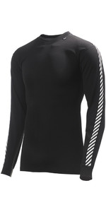 2019 Helly Hansen Lifa Stripe Crew Neck Base Layer LS Top Black 48800