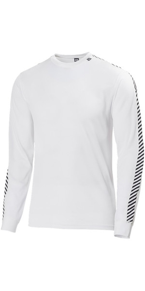 2019 Helly Hansen Lifa Stripe Crew Neck Base Layer LS Top White 48800