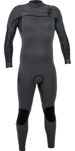 2019 O'Neill Mens Psycho One 3/2mm Chest Zip Wetsuit Graphite / Jet Camo 4966