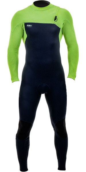 2019 O'Neill Youth Hyperfreak Comp 4/3mm Zip Free Wetsuit Abyss / Day Glo 5007